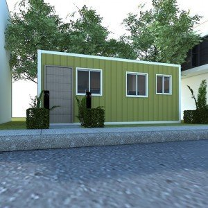 CONTAINER VAN OFFICE EXTERIOR VIEW House and construction Supplier Philippines